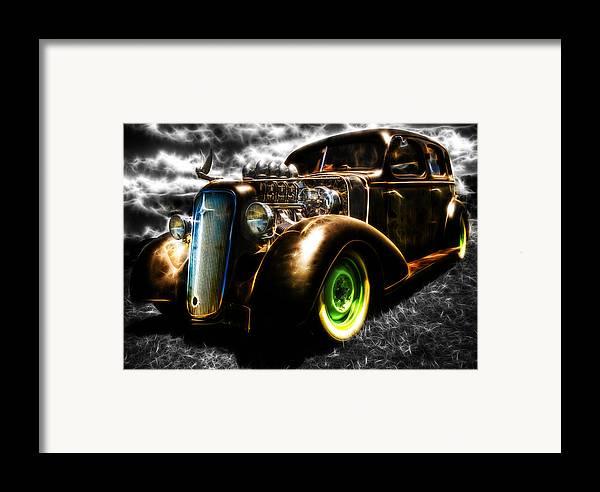 Custom Chevy Framed Print featuring the photograph 1936 Chevrolet Sedan by Phil 'motography' Clark
