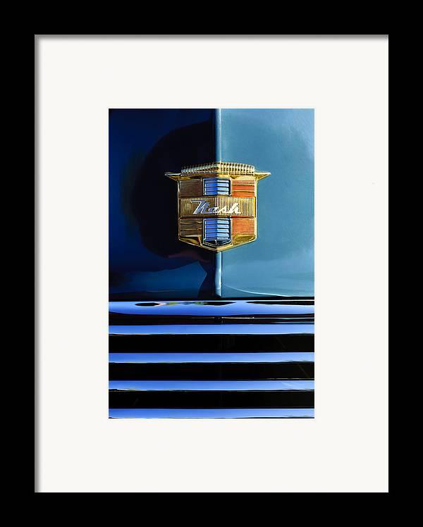 1947 Nash Suburban Framed Print featuring the photograph 1947 Nash Surburban Hood Ornament by Jill Reger