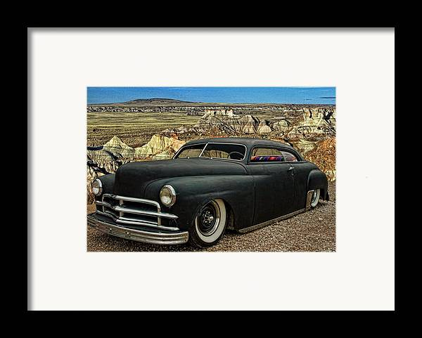 1949 Framed Print featuring the photograph 1949 Plymouth Low Rider by Tim McCullough