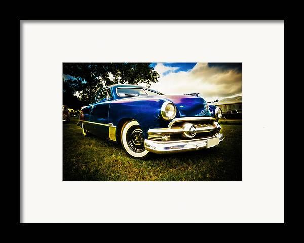 Ford Custom V8 Framed Print featuring the photograph 1951 Ford Custom by Phil 'motography' Clark