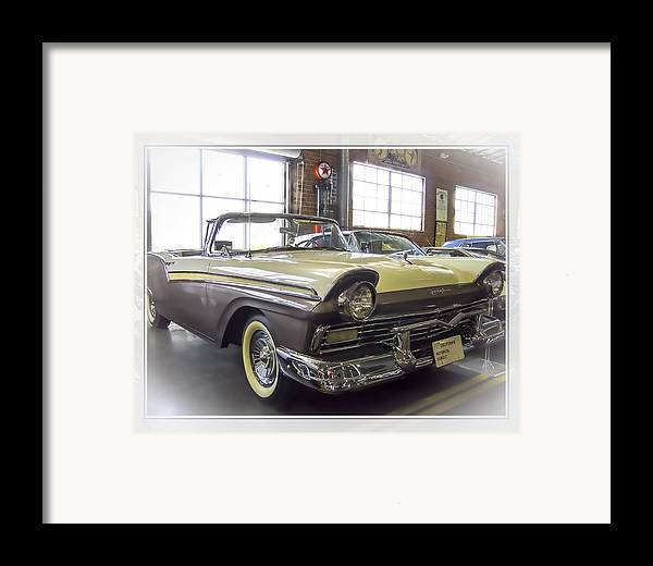 Oldzero Framed Print featuring the photograph 1957 Ford Fairlane by Steve Benefiel