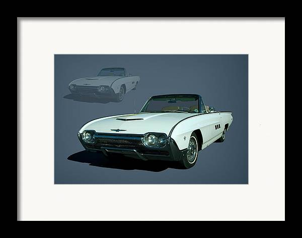 1963 Framed Print featuring the photograph 1963 Ford Thunderbird Convertible by Tim McCullough