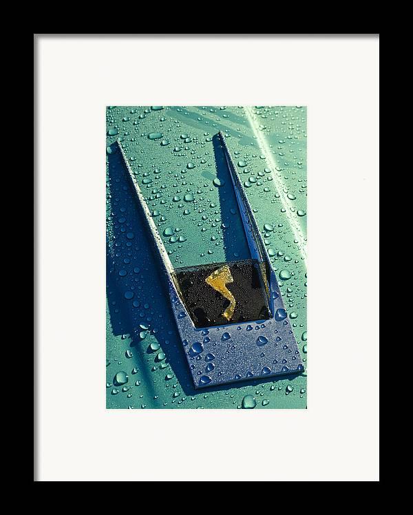 1963 Studebaker Avanti Framed Print featuring the photograph 1963 Studebaker Avanti Hood Ornament by Jill Reger