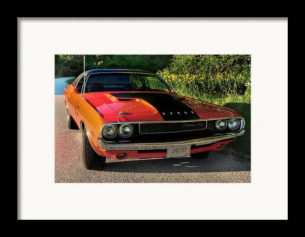 Challenger Framed Print featuring the photograph 1970 Dodge Challenger Rt by Thomas Schoeller