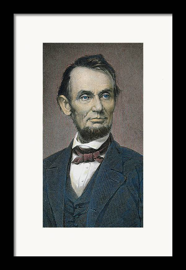 Statesman Framed Print featuring the painting Abraham Lincoln by American School