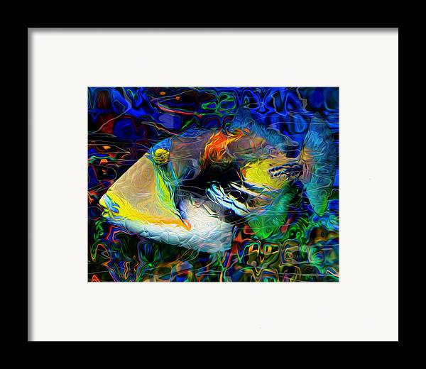 Tropical Framed Print featuring the painting Below The Surface 4 by Jack Zulli