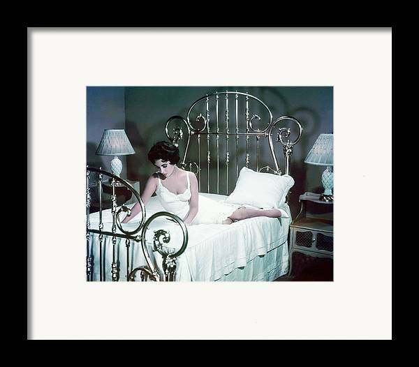 Cat On A Hot Tin Roof Framed Print featuring the photograph Elizabeth Taylor In Cat On A Hot Tin Roof by Silver Screen
