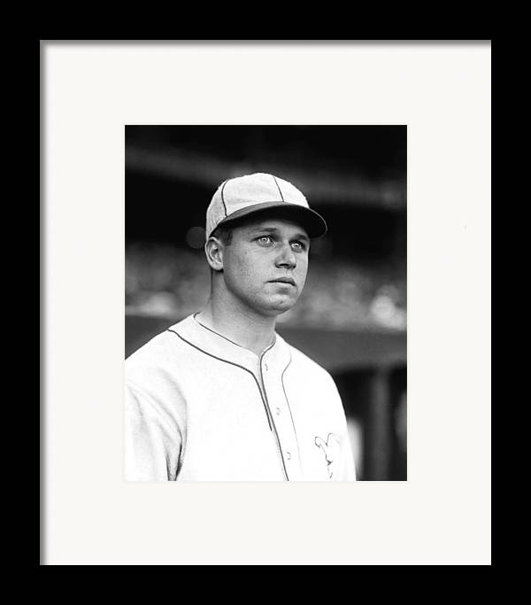 Baseball Framed Print featuring the photograph James E. Jimmie Foxx by Retro Images Archive