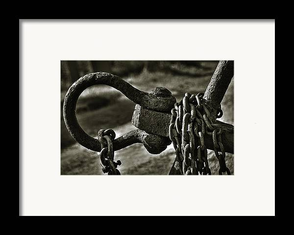 Abstract Framed Print featuring the photograph Old Rusty Anchor by Erik Brede