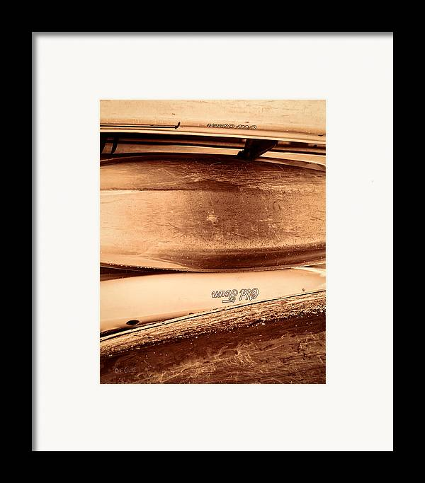 Canoe Framed Print featuring the photograph Old Town Canoes by Bob Orsillo