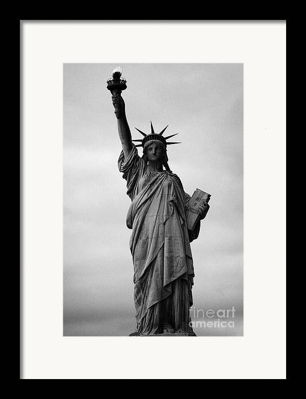 Usa Framed Print featuring the photograph Statue Of Liberty National Monument Liberty Island New York City by Joe Fox