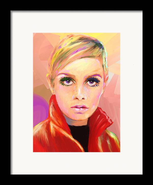 Twiggy Framed Print featuring the mixed media Twiggs by GCannon