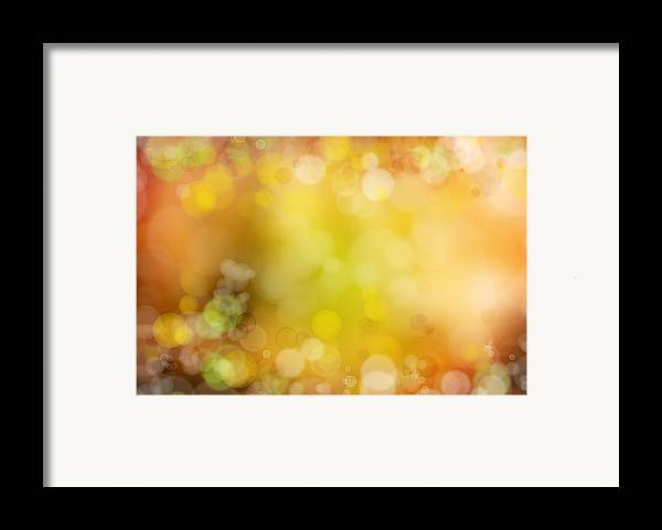 Space Framed Print featuring the photograph Abstract Background by Les Cunliffe