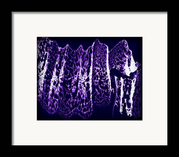 Original Framed Print featuring the painting Abstract 67 by J D Owen