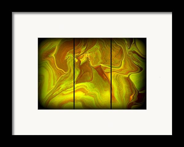 Original Framed Print featuring the painting Abstract 99 by J D Owen