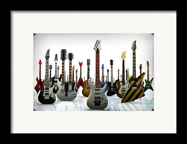 Rock N Roll Framed Print featuring the digital art The G Gathering by Frederico Borges