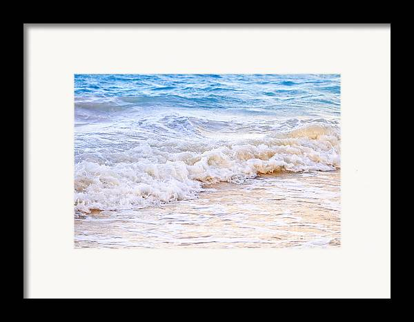 Caribbean Framed Print featuring the photograph Waves Breaking On Tropical Shore by Elena Elisseeva