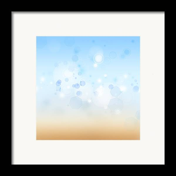 Abstract Framed Print featuring the photograph Abstract Background by Les Cunliffe
