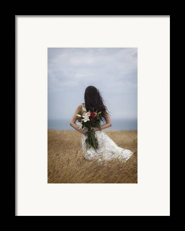 Girl Framed Print featuring the photograph Bouquet Of Flowers by Joana Kruse
