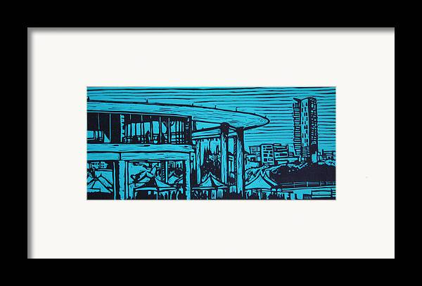 Long Center Framed Print featuring the drawing Long Center by William Cauthern