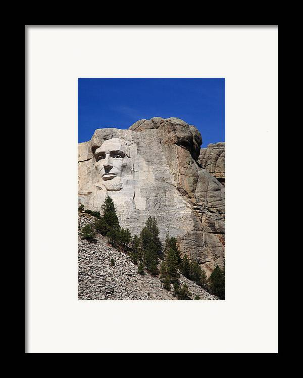 Abe Framed Print featuring the photograph Mount Rushmore by Frank Romeo