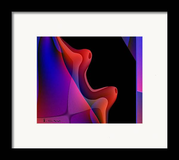 Abstract Framed Print featuring the digital art 495 - Red Hot Fantasy by Irmgard Schoendorf Welch