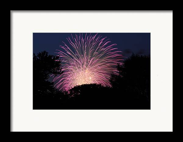 Washington Framed Print featuring the photograph 4th Of July Fireworks - 01132 by DC Photographer
