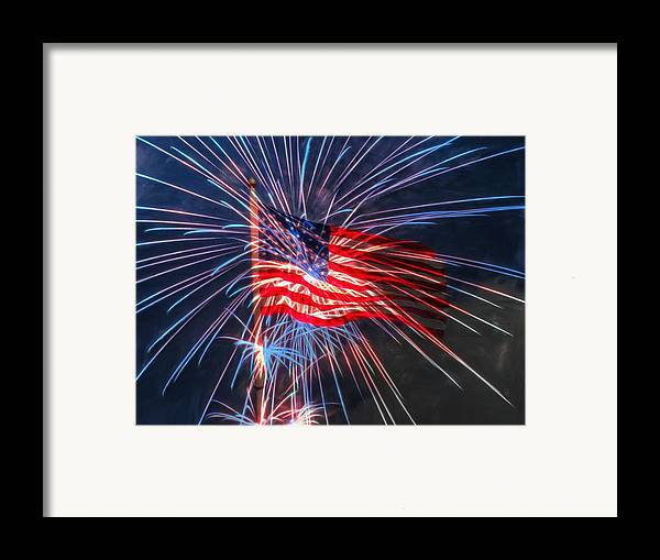 4th Framed Print featuring the digital art 4th Of July by Heidi Smith