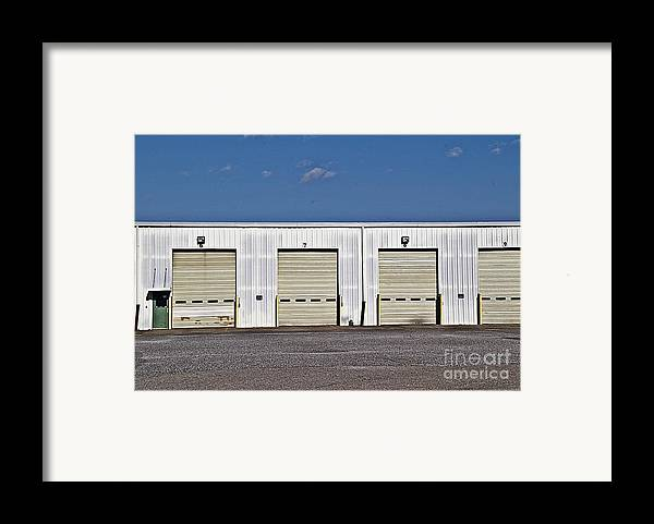 6 7 8 9 Warehouse Not In Use Now This Is A Very Large Trucking Opeation Framed Print featuring the photograph 6 7 8 9 Warehouse by JW Hanley