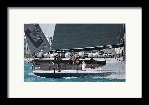 Miami Framed Print featuring the photograph Tp52 Regatta by Steven Lapkin