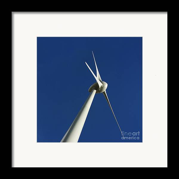 Renewable Energy Framed Print featuring the photograph Wind Turbine by Bernard Jaubert