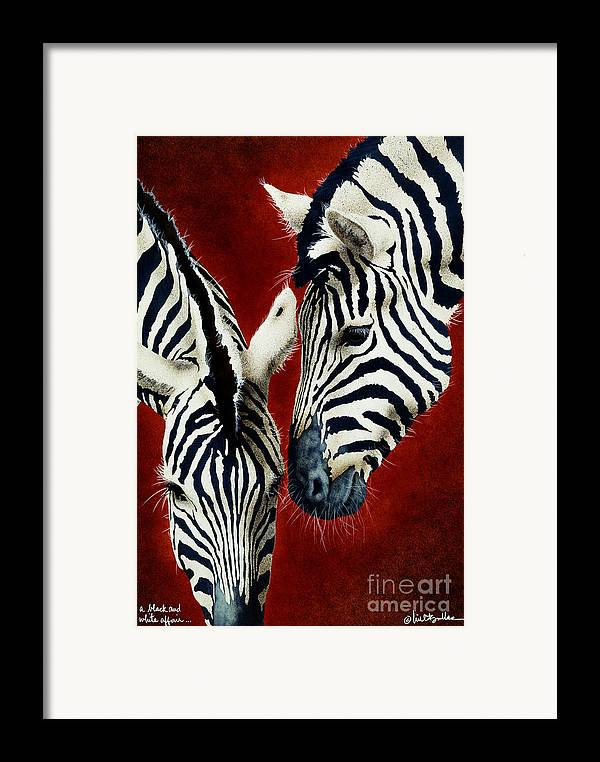 Will Bullas Framed Print featuring the painting A Black And White Affair... by Will Bullas