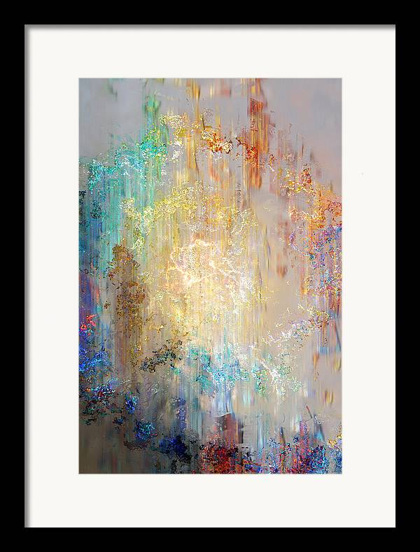 Large Abstract Framed Print featuring the painting A Heart So Big - Abstract Art by Jaison Cianelli