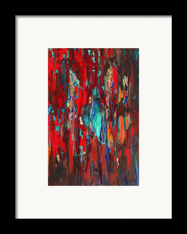 Abstract Art Framed Print featuring the painting A New Beginning by Billie Colson