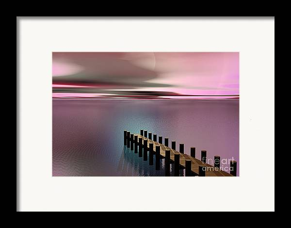 Storm Framed Print featuring the painting A Perfect Calm by Barbara Milton
