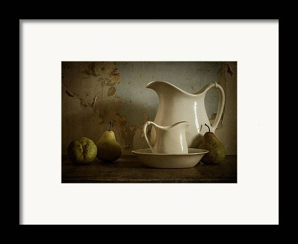 Pear Framed Print featuring the photograph A Simpler Time by Amy Weiss