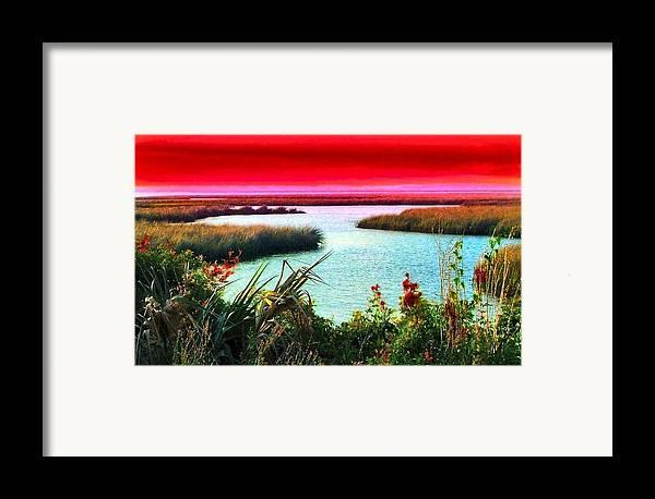 Crimson Framed Print featuring the photograph A Sunset Crimsoned by Julie Dant