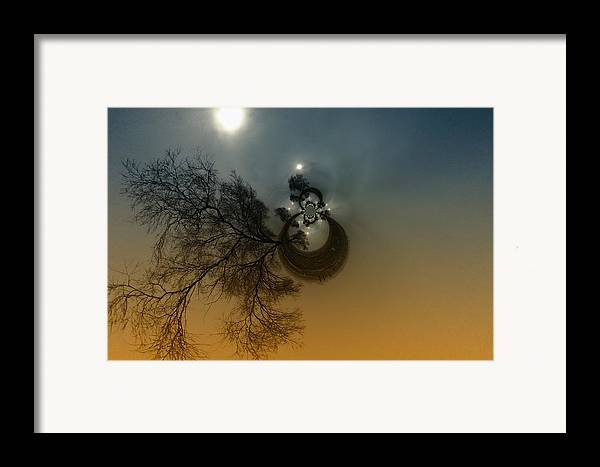 Abstract Framed Print featuring the photograph A Tree In The Sky by Jeff Swan