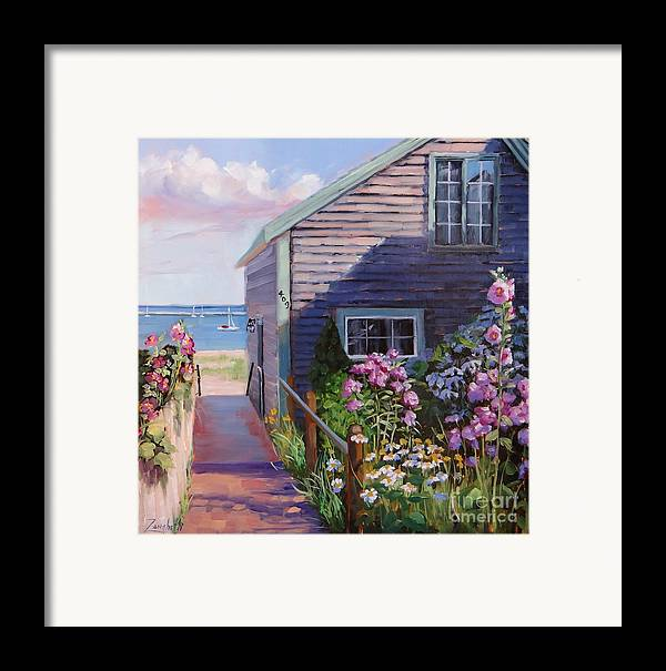Seascape Framed Print featuring the painting A Visit To P Town Two by Laura Lee Zanghetti