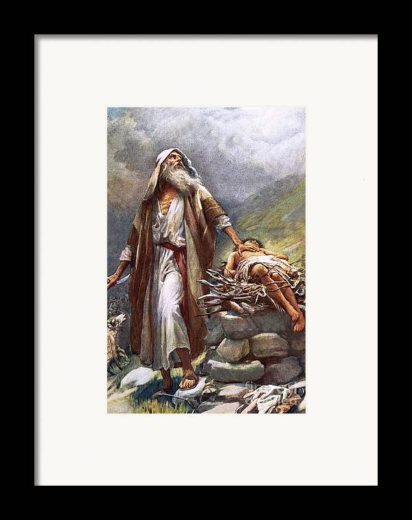 Man Framed Print featuring the painting Abraham And Isaac by Harold Copping