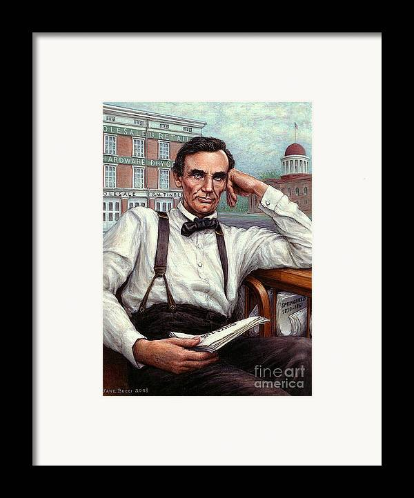 Occupy China Framed Print featuring the painting Abraham Lincoln Of Springfield Bicentennial Portrait by Jane Bucci