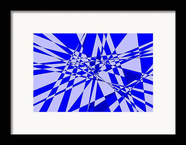 Original Framed Print featuring the digital art Abstract 152 by J D Owen