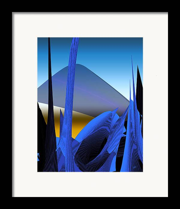 Digital Art Framed Print featuring the digital art Abstract 200 by Gerlinde Keating - Galleria GK Keating Associates Inc