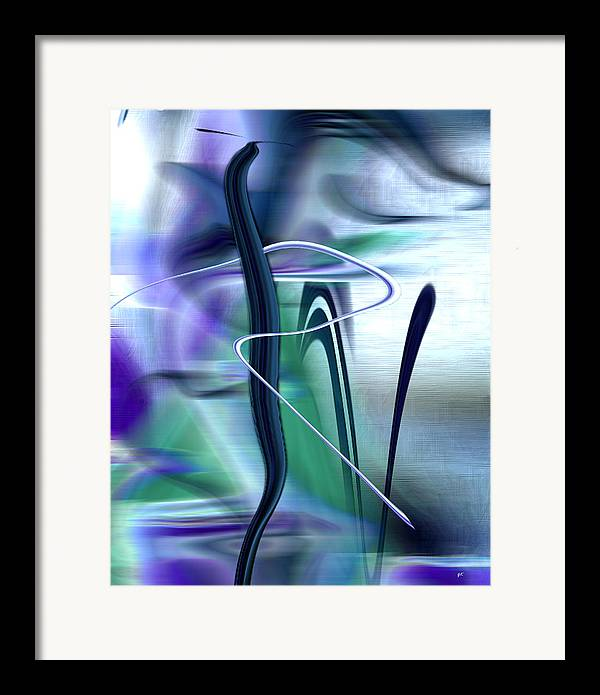Abstract Framed Print featuring the digital art Abstract 300 by Gerlinde Keating - Keating Associates Inc