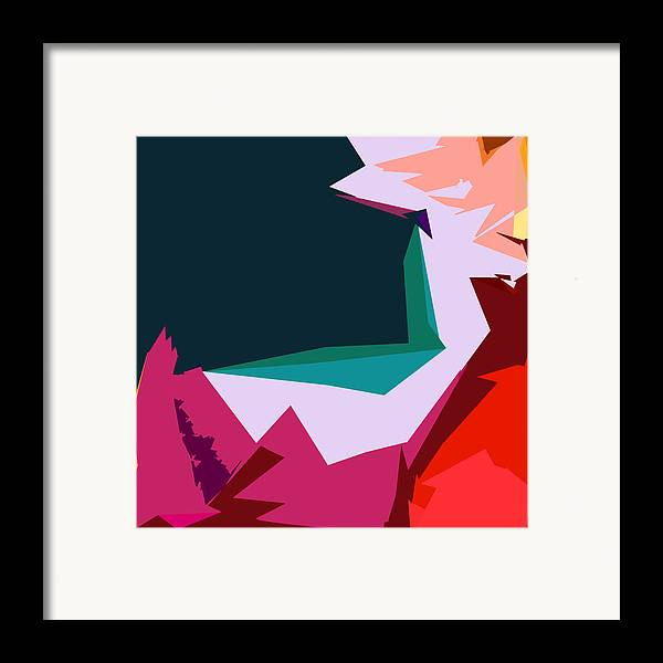 Abstract Framed Print featuring the digital art Abstract 4-2013 by John Lautermilch