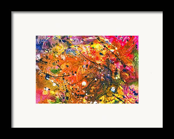 Abstract Framed Print featuring the photograph Abstract - Crayon - The Excitement by Mike Savad