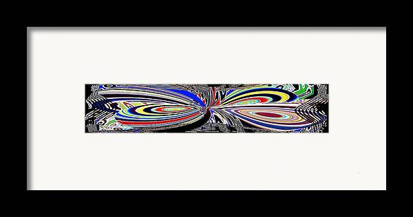 Abstract Fusion Framed Print featuring the digital art Abstract Fusion 197 by Will Borden
