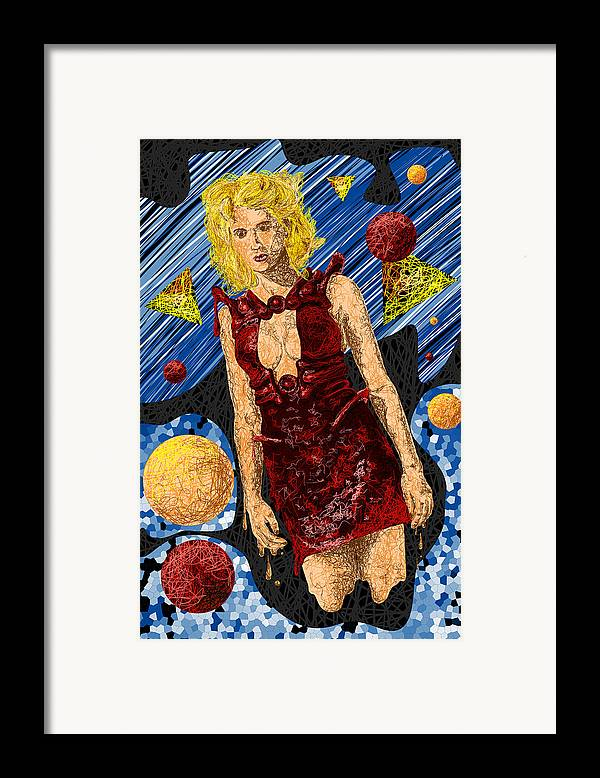 Fashion Art Framed Print featuring the drawing Abstraction De Richters Numero Deux by Pierre Louis