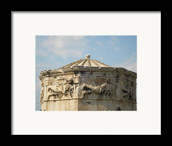 Pláka Is The Old Historical Neighborhood Of Athens Framed Print featuring the sculpture Aerides by Greek View