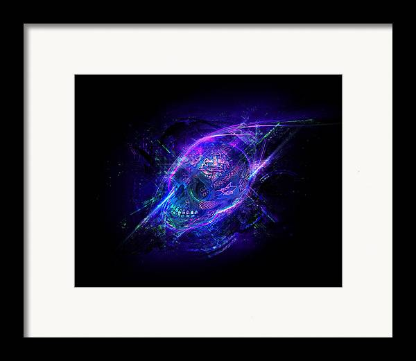 Skull Framed Print featuring the digital art Afterglow by George Smith
